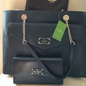 NWT Kate Spade tote with wallet